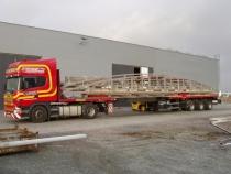 Přeprava konstrukce do E - Artexio (délka 22 m)